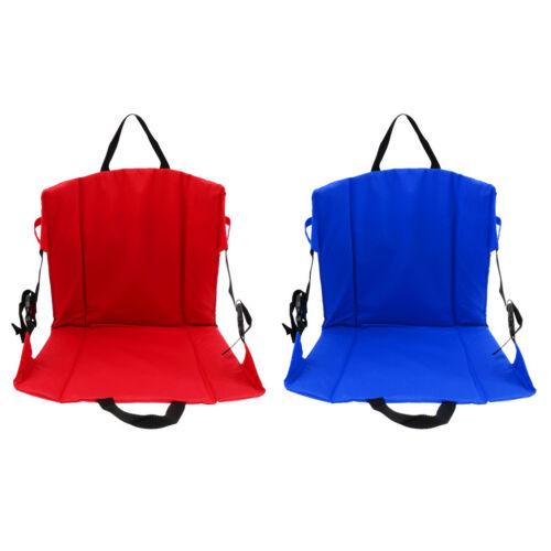 Folding Camping Chair Seat Cushion Back Pad for Stadium Bleacher Football Sports