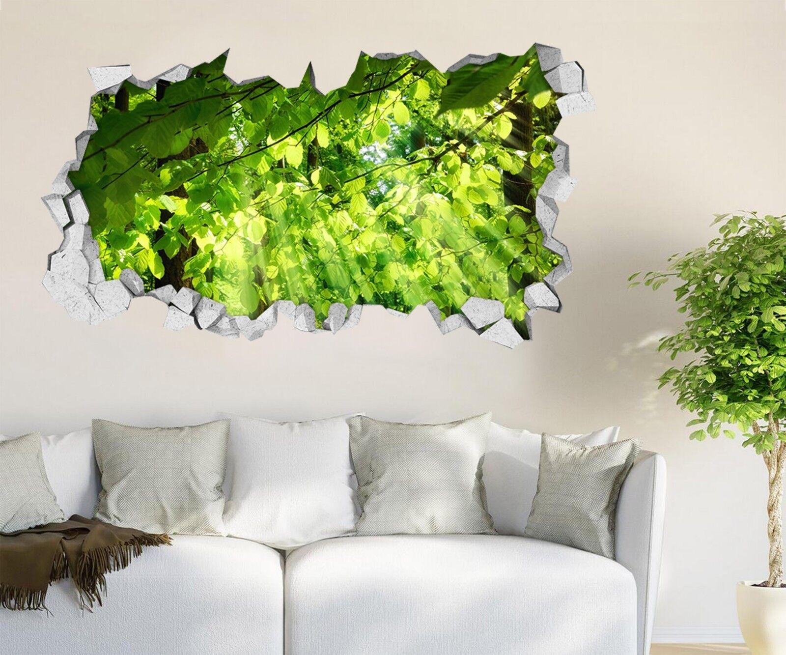 3D greene Blätter 18 Mauer Murals Mauer Aufklebe Decal Durchbruch AJ WALLPAPER DE