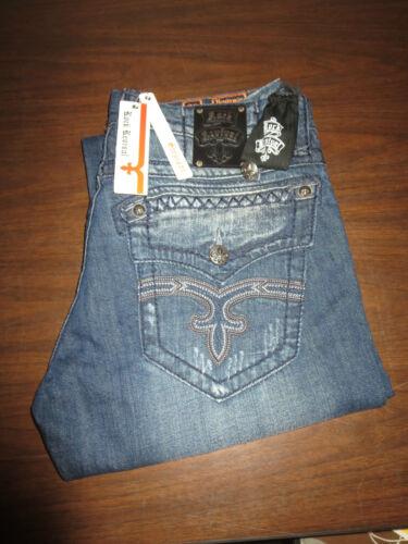 ROCK REVIVAL BENJAMIN Denim Jeans Straight Leg  *NWT* /& Spare Button