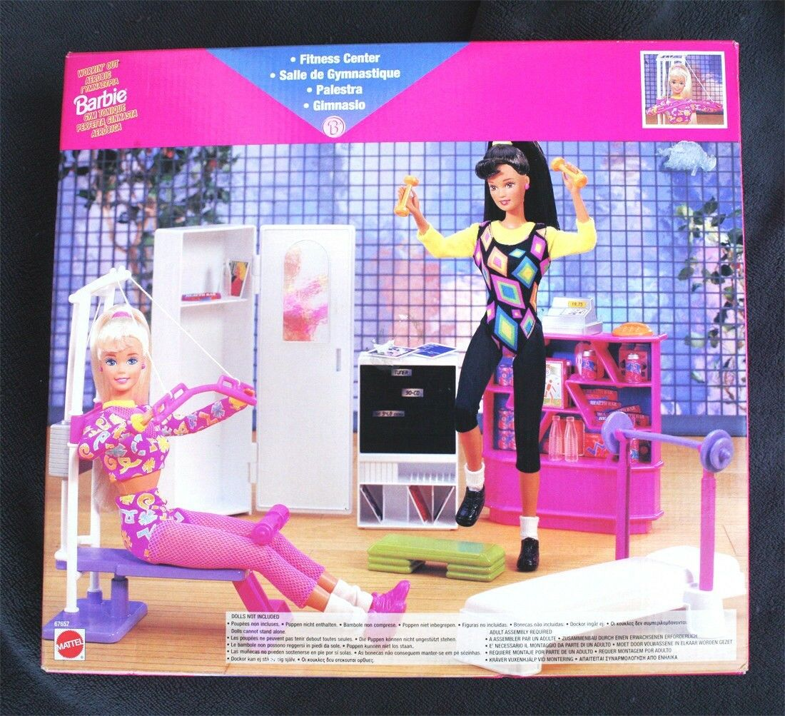 VINTAGE BARBIE FITNESS CENTER (1990). VERY HARD TO FIND, BRAND NEW OLD STOCK