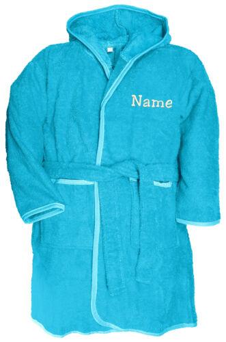 Enfants Robe de chambre capuche Enfants Robe De Chambre Avec Nom Brodé doux et chaud NEUF