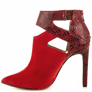 Luichiny-Red-FX-Snake-Pointy-Toe-Cut-Out-Ankle-Bootie-High-Heel-Shoe-Sizes-7-11