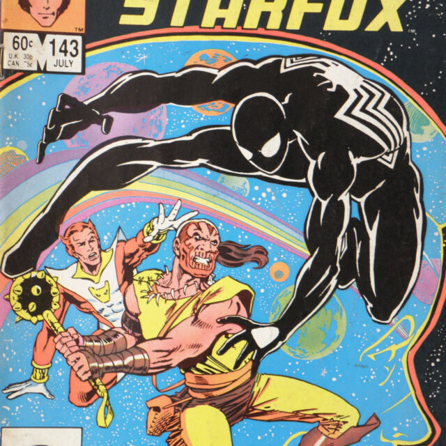 MARVEL TEAM-UP 143 — July 1984 — MARVEL SPIDER-MAN Starfox Captain Marvel