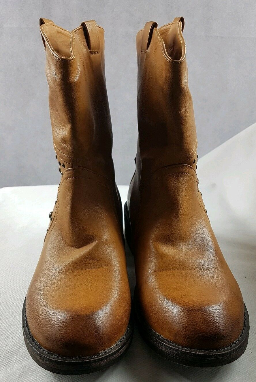 SKO by A&B Women's Tan   Brown Casual Cowboy Ankle Boots Used VGC