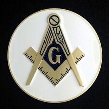 Masonic Car Auto Emblem (White) MAE-3