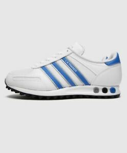 Adidas-Originals-La-Baskets-Blanc-Bleu-Chaussures