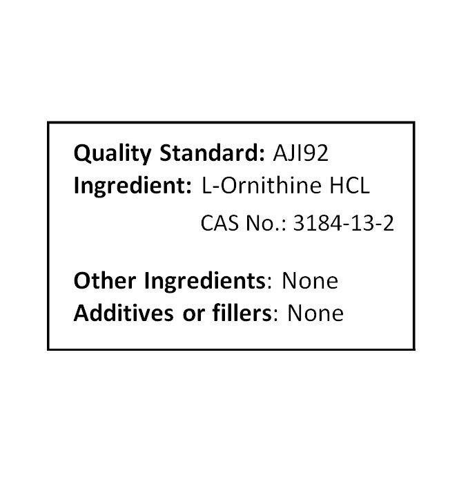 NuSci Pure 100% Pure NuSci L-Ornithine Powder 500g (1.1LB, 17.6oz) lean muscle mass c38723