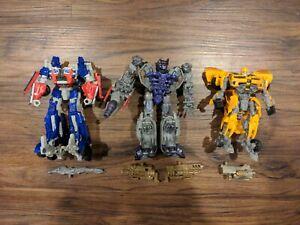 Hasbro Transformers Streetside Bot Brawl Figure Lot Prime Shockwave Bumblebee