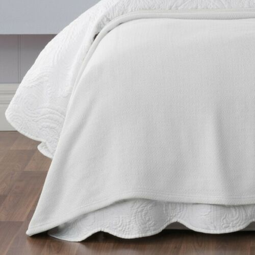 Bianca Norwood Cotton Blanket 320gsm Snow