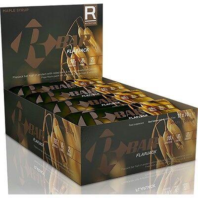 REFLEX NUTRITION R BAR FLAPJACK 12 X 70G HIGH PROTEIN LOW SUGAR OAT FLAPJACKS