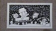 SMELL OF STEVE original comic strip art Brian Sendelbach ZIGGY-WITH-A-HAT XMAS