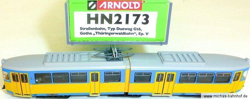 Duewag Gt6 Straßenbahn Gotha  DSS EpV ARNOLD HN2173 N 1 160 HR5 µ