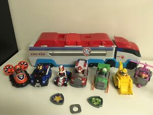 PAW-PATROL-PATROLLER-Semi-Truck-Bus-FIGURES-amp-VEHICLES-Rocky-Zuma-Ryder-Huge-Lot