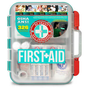 Be Smart Get Prepared Omar Medical Supplies First Aid Kit, 326 Pieces - First