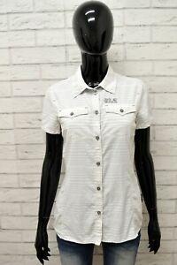 Camicia-Donna-JACK-WOLFSKIN-Taglia-Size-S-Maglia-Blusa-Shirt-Cotone-Manica-Corta