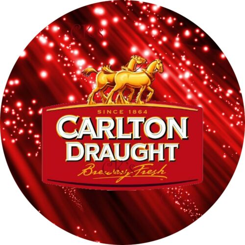 Cupcake Toppers CARLTON DRAUGHT 7 Inch Edible Image Cake BEER ALCOHOL PUB