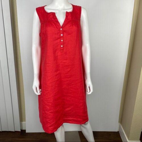 Allen Allen XL Linen Sleeveless  Dress