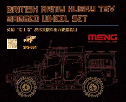 Resin Meng-Model SPS-064-1:35 British Army Husky TSV Sagged Wheel Set