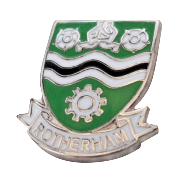 1462 Rotherham Town South Yorkshire County Small Pin Badge