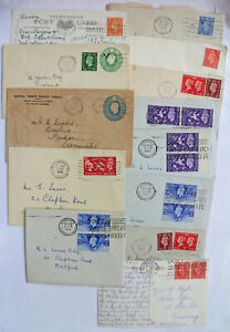 GB-Great-Britain-KGVI-Cover-amp-Postcard-Card-18-Lot