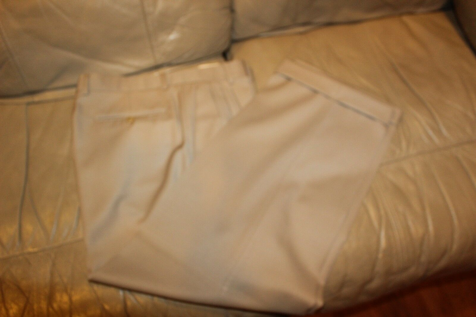 ZANELLA PANTS SIZE 34X27 BEIGE  CHARCOAL   IN GREAT CONDITION MEN'S