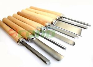 8pcs Wood Lathe Chisel Set Turning Tools Woodworking Gouge Skew Parting Spear US