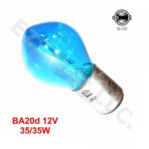 HEADLIGHT BULB BLUE 12V 35//35W BA20D HI-LOW GY6 SCOOTER MOPED ATV TAOTAO YIBEN