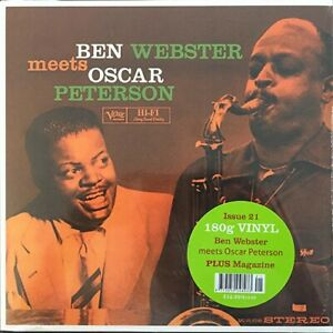 DeAGOSTINI - VINYL LP - BEN WEBSTER MEETS OSCAR PETERSON - NEW VERVE MG VG-8349