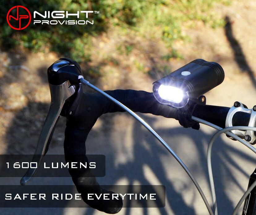 NIPRO M1 1600 Lumen 2 x Cree XPL-V6 LED Bicycle Bike Light USB Rechargeable