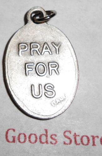 Santo San Juan Pablo II Oxidado Tono Plateado Italiano 2.5cm Medalla