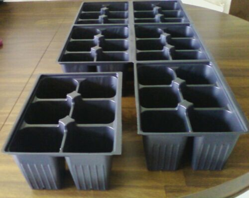 Cells Seedling Seed Starter Tray Inserts 90 Deep Extra Large 15 stake labels