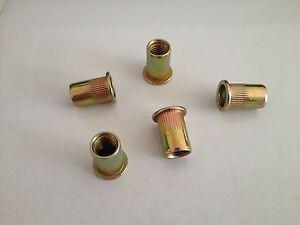50pcs-Flat-Head-Metric-Steel-Blind-Insert-Rivet-Nut-Rivnut-M3