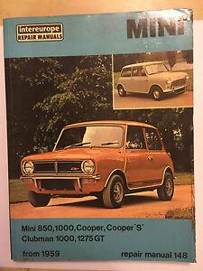 bmc bl mini intereurope workshop manual 1275 gt cooper s clubman 850 rh ebay co uk Mini 1275 GT Custom Mini 1275 GT Poster
