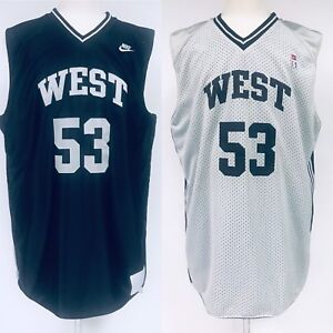 92fc0f821 Nike Supreme 2001 NBA All Star Game Jersey West 53 Reversible Black ...