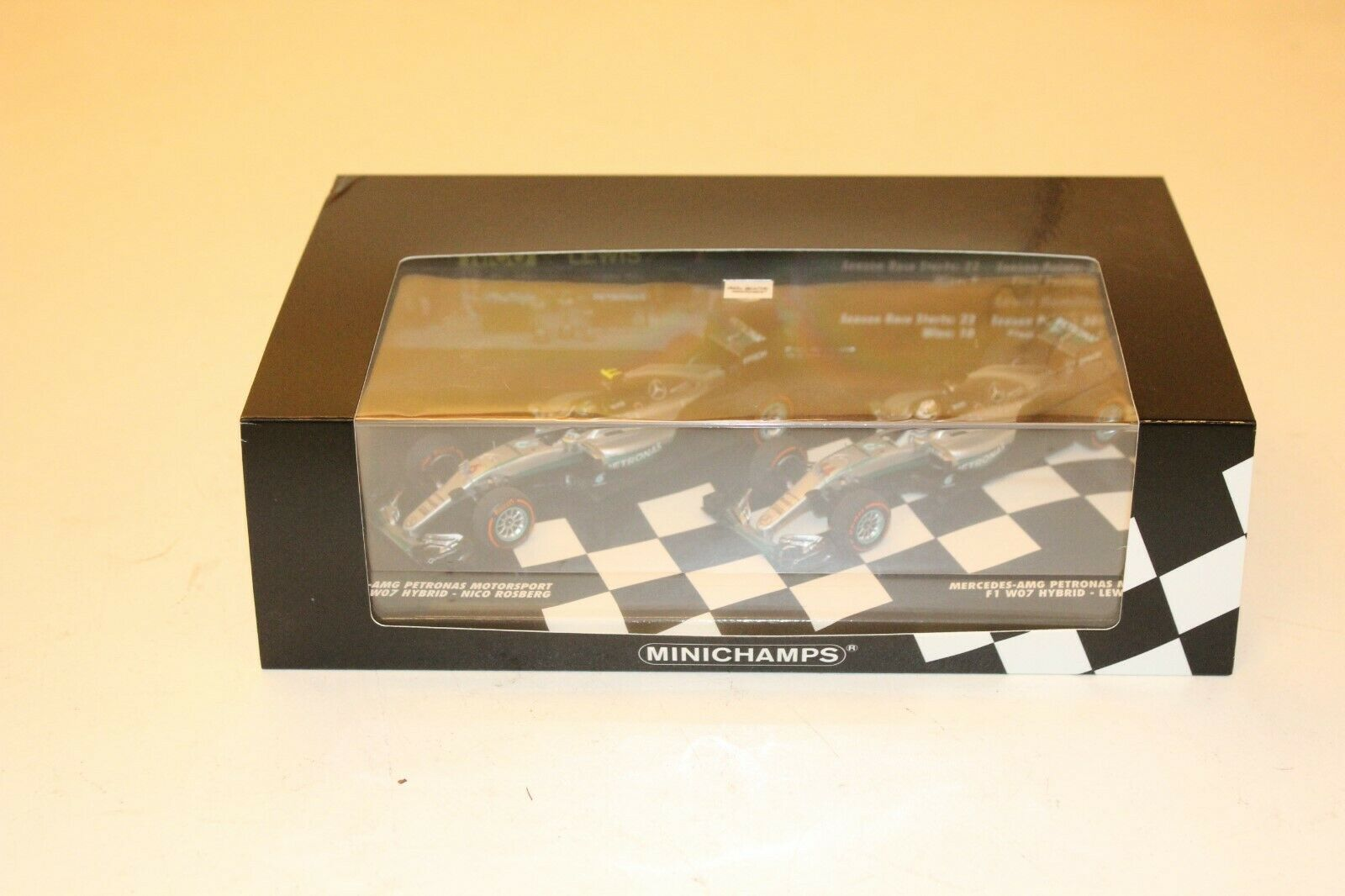Minichamps 1 43 Mercedes AMG 2016 W07 F1 World Championship 2 Car Set 412164406