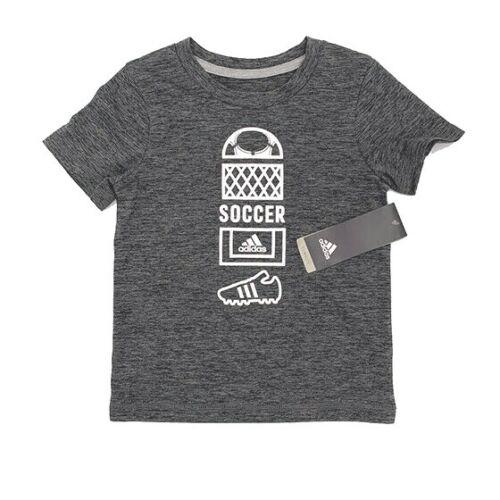 Adidas Toddler Boys Graphic Tee Shirt Soccer Dark Gray Size 2T 4 MSRP $22.00