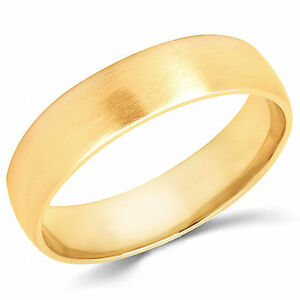 Solid 2mm 3mm 4mm 5mm Real 10K Yellow Gold Comfort Men//Women Wedding Band Ring