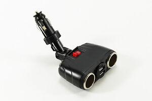 KFZ Auto Motor 2 Fach Zigarettenanzuender Steckdose Adapter 12V//24V Wasserdic 1I