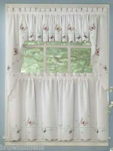 Monarch Embroidered Butterfly Curtain And Swag Set Ebay