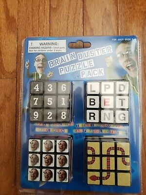 Bits and Pieces Set of Four Brainteasers Brain Buster Puzzle Pack