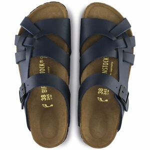 8e97b74fcb8 Image is loading Authentic-Women-039-s-Birkenstock-Navy-Pisa-Adjustable-