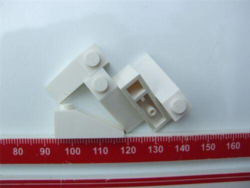 5 X LEGO Bianco TEGOLA 1X3//25 gradi parti e pezzi 428601