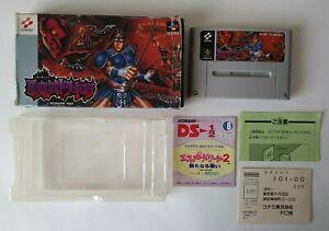 Castlevania IV 4 (Akumajo Dracula) Super Famicom SFC Nintendo SNES w/ Box Japan