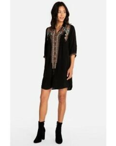 Johnny-Was-Clarissa-Black-Dress-Embroidered-C85844-New-Boho-Chic