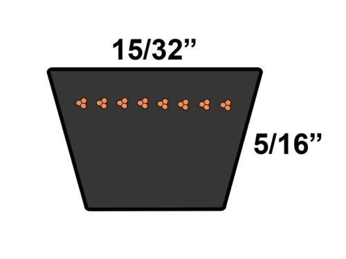 D/&D PowerDrive 15580 V Belt  .44 x 58.57in  Vbelt