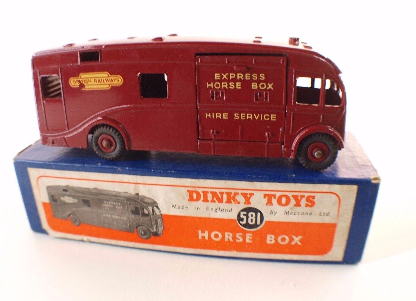 Dinky Toys GB GB GB n° 581 camion Express Horse Box British railways Truck mint RARE   Bonne Réputation Over The World  0a7ef7