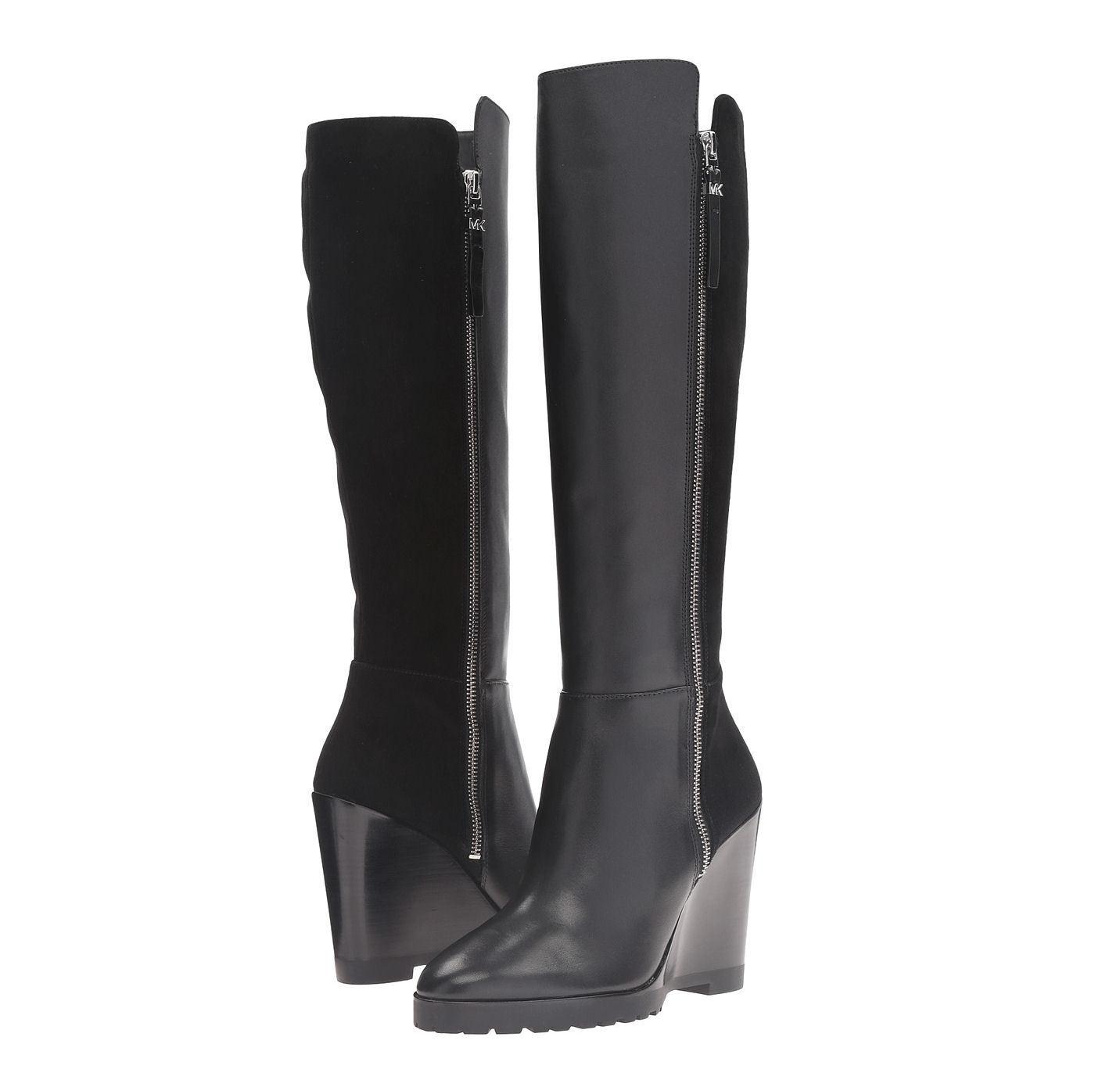 Michael Kors MK CLARA Black Knee Tall