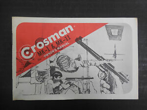 Crosman MK-1 & MK-11 Original Owner's Manual