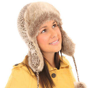 4fa02dc5c64 Image is loading QUALITY-LADIES-RUSSIAN-FAUX-FUR-TRAPPER-COSSACK-SKI-