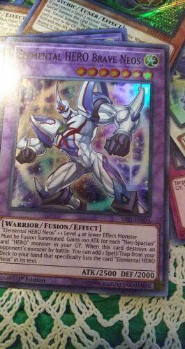 Elemental HERO Brave Neos Super Rare SAST-EN035 YUGIOH